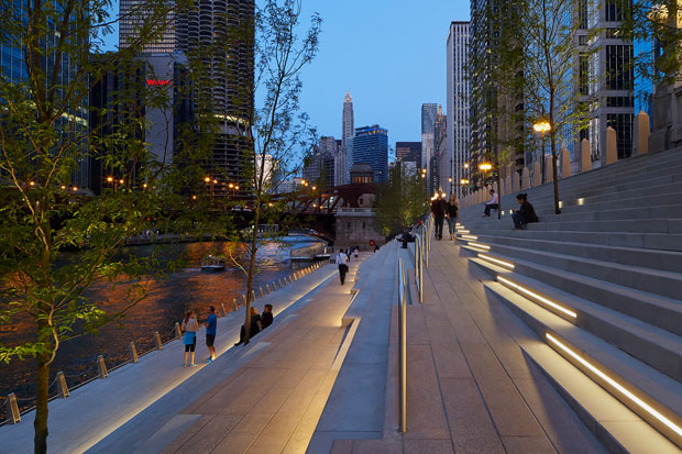 Chicago-Riverwalk. Premios IALD