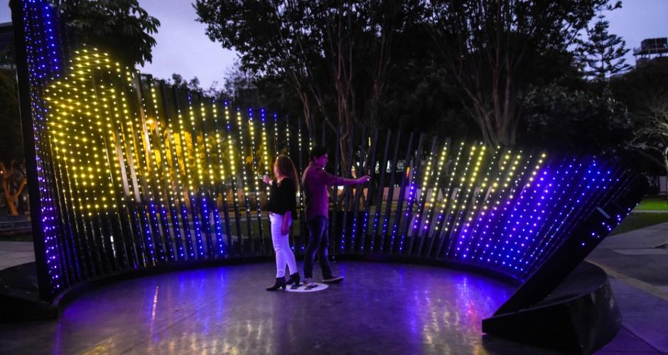 Iluminación interactiva en los entornos urbanos