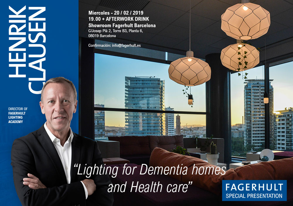 Henrik Clausen Fagerhult Lighting for Dementia Homes and Health Care