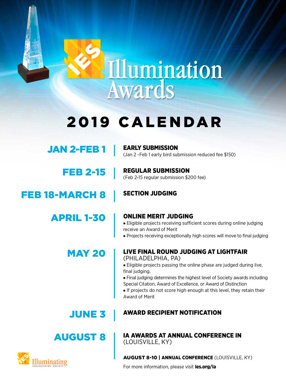 Abierta la convocatoria de los IES Illumination Awards 2019