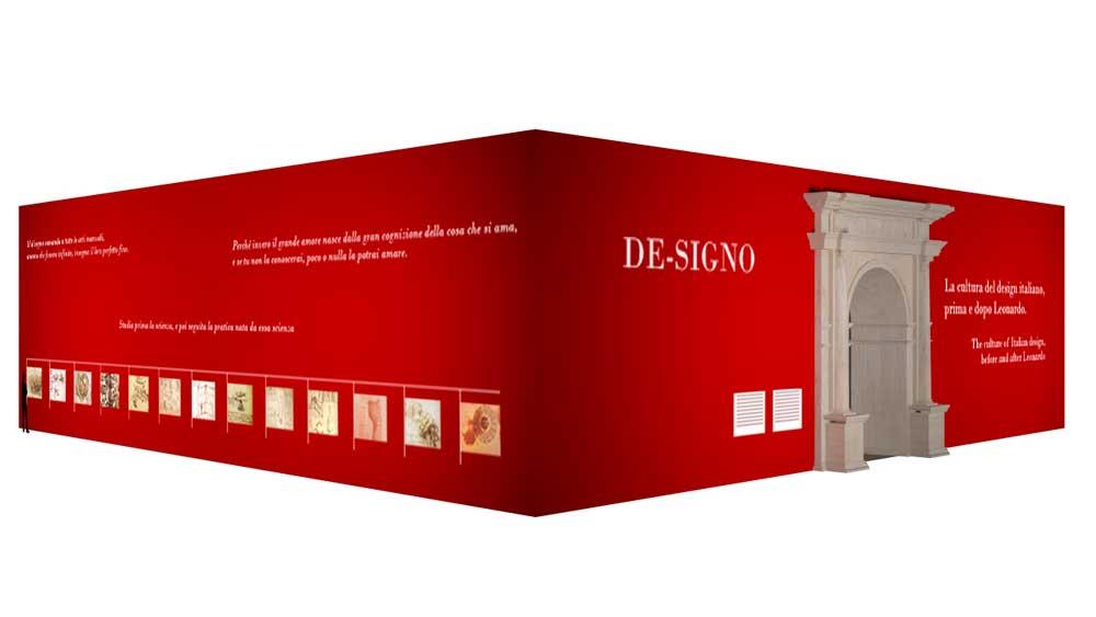 Leonardo da Vinci protagoniza las dos instalaciones del Salone del Mobile.Milano