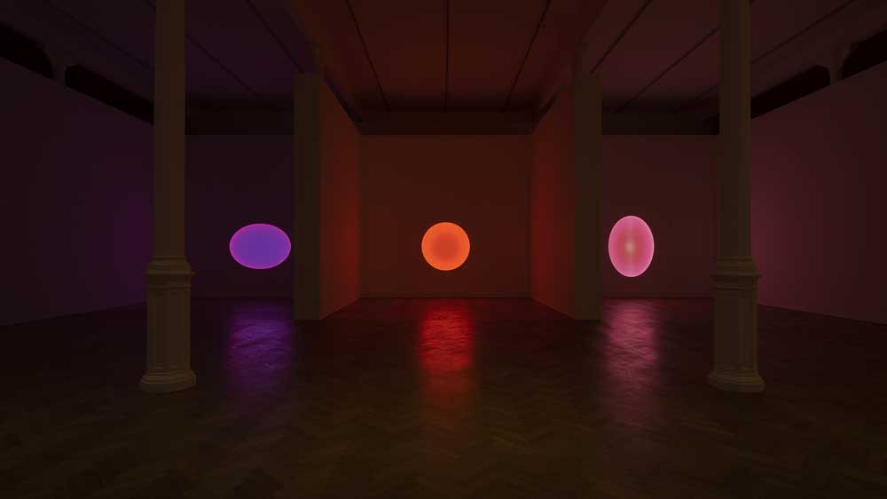 Sagittarius, Medium Elliptical Glass y Cassiopeia Medium Circle Glass de James Turrell